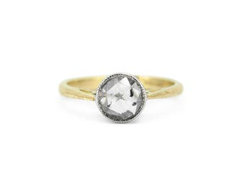 The Freya Ring - 18ct Gold Galaxy Rose Cut Diamond Engagement Ring