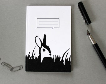 A6 Notebook in four designs: Robin, Penguin, Bunny or Owl