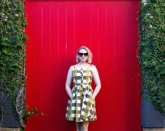 Vintage Fabric Check Dress - One Off - Handmade by Alice