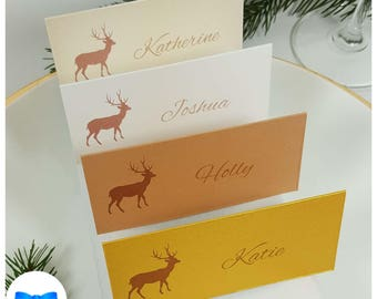 Christmas Place Cards Christmas Tree Place Cards Santa Hat