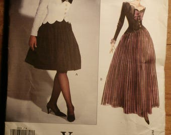 Vintage Vogue Designer Original  Bellville Sassoon 1015 Dress Pattern FF