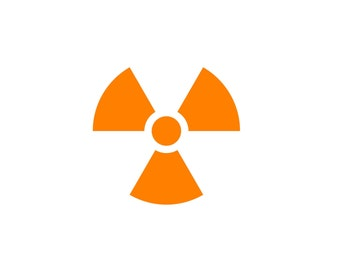 Radioactive Sign SVG - Nuclear cut files - atomic bomb cut files - radiation