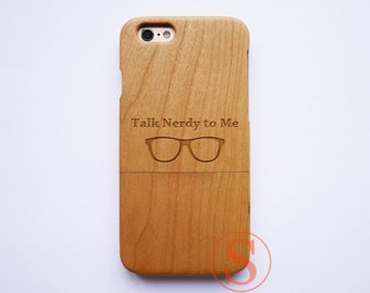 Talk Nerdy To Me, iPhone 8 plus case, iPhone 8 case, iPhone 7 plus case, iPhone 6 case, iPhone X case, Wood iphone cases, DK-86