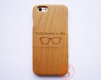 Talk Nerdy To Me, iPhone 8 plus case, iPhone 8 case, iPhone 7 plus case, iPhone 6 case, iPhone X case, Wood iphone cases, DK-86