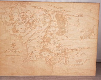 Lord of the rings, middle earth  map, wood engraving, the hobbit, lord of the ring, the one ring