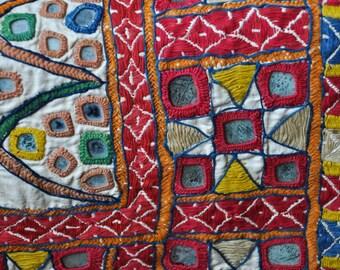 Vintage textile wall. India