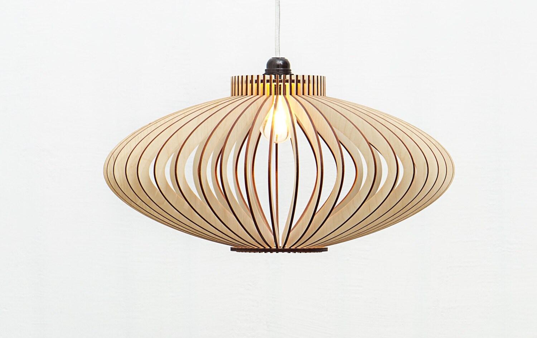 Hängelampe Holz / Holz Anhänger Licht / Holz Beleuchtung /