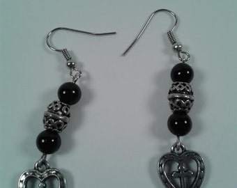 Onyx and Hearts with Crosses