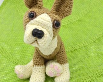 Boston Terrier Crochet Pattern, Crochet Dog Pattern