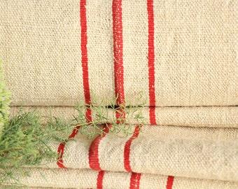 P 407 antique hemp linen roll french RED 천 grainsack fabric 12.023yards wedding decor lin 19.69wide