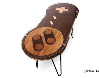 16-bit Retro Gaming Occasional Table - Walnut