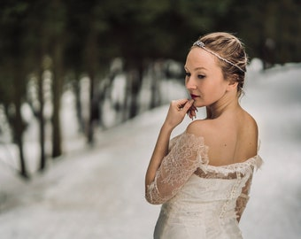 Princess Bridal Crown / Small Wedding Tiara / Rhinestones and beading
