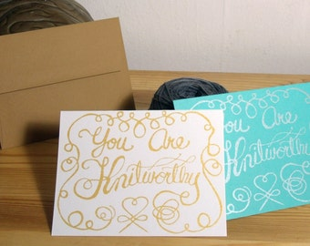 Knitworthy Note Card Gift Card Greeting Card