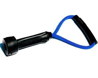 Dog Toys - Upcycled Cow Milking Tube Rubber Tug Toy - Blue Original Size