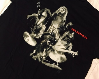 Vintage Led Zeppelin Band Tee w/ Embroidery