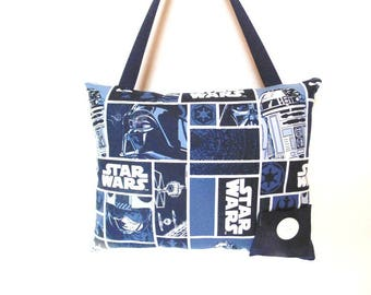 Personalized Star Wars Tooth Fairy Pillow, Navy Blue Star Wars Pillow, Hanging Pillow Darth Vadar Pillow