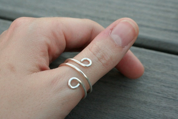 Sterling Silver Double Twist Ring // Bridesmaid // Gifts for Her // Stocking Stuffer