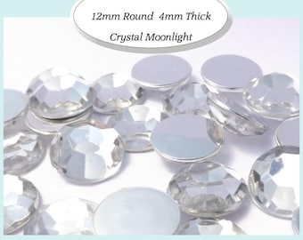 20 x Crystal Moonlight 12mm Faceted Cabochon- AUSTRALIA