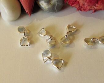 D-03364 - 5 Pinch bails silver color