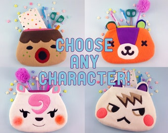 Custom Animal Crossing Villager Pouch | Custom Animal Crossing Pencil Case | Choose Any Villager!