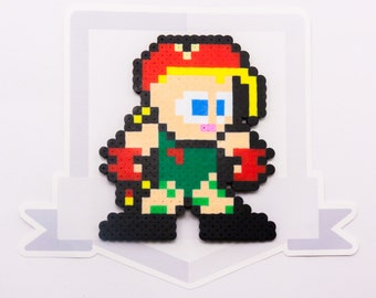 Cammy Perler Bead Sprite Necklace || Street Fighter || Gaming, Accessory, Wearable, Gift