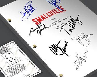 SMALLVILLE TV Script Pilot Episode Screenplay Signed Autograph Reprint - Tom Welling, Kristen Kreuk Superman Clark Kent Lana Lang Lex Luthor