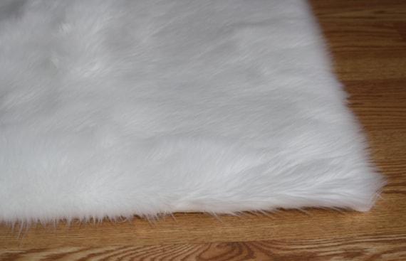 4\' x 6\' pur blanc fausse fourrure très doux tapis