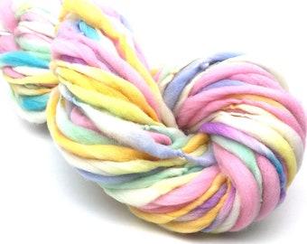 Super bulky handspun merino yarn, thick and thin, 50 yards, 2.95 ounces/83 grams