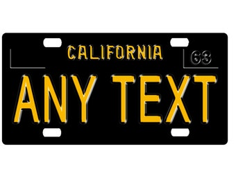 Custom, personalized state license plate - California 1963 - free shipping