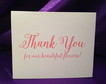 Wedding Cards For Wedding Florist - Thank You For Our Beautiful Flowers!