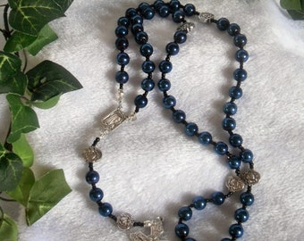 Navy Blue Rosary  N-124