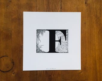 "Fine Art Print | ""F"" 