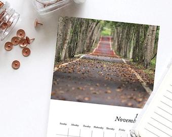 Road to No Where 2019 Desk Calendar, Graphic Patterns, Mini Calendar, 2019 Calendar, 2019 Planner, Small Calendar, photography