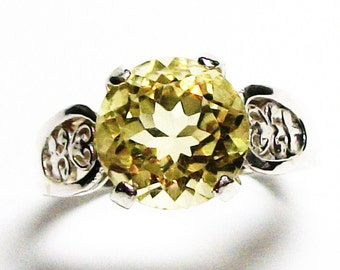 """Citrine, citrine cocktail ring, birthstone ring, solitaire ring, engagement ring s 8   """"Cupcake"""""""