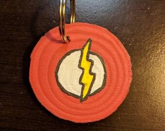 Arrowverse logo wooden keychain