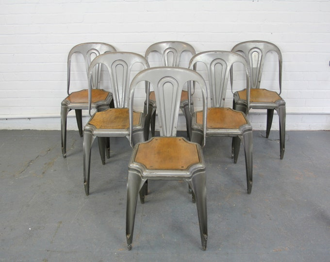Industrial Stacking Chairs By Fibrocit Circa 1930s