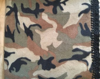 Fleece Baby Blanket- Camo