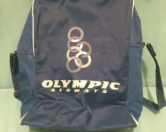 1960s Olympic Airways Carry On Bag - Greece - GREEK - Ari Onassis