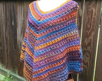 Crochet Pattern, Cozy Poncho, Boho Poncho Pattern