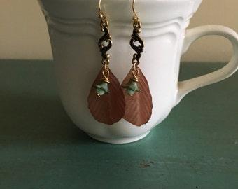 Fun Birch Leaf Bellflower Earrings