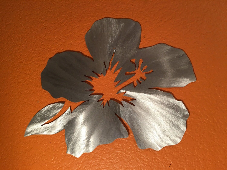 Hawaiian flower metal wall art hibiscus flower from hawaii outside hawaiian flower metal wall art hibiscus flower from hawaii outside art patio decor tropical art saltwater series gift for her maui izmirmasajfo Image collections