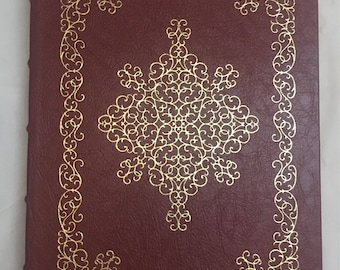 The Essays of Ralph Waldo emerson  Easton Press Leather Bound hardcover with 22 kt Gold Gilded edges, first editon, first press