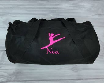 Personalized BALLET or Contemporary Duffel/Gym Bag. Dance bag, ballet bag, dance team, dance gift