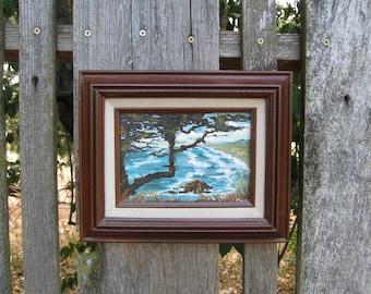 Vintage California Coast Cypress Painting