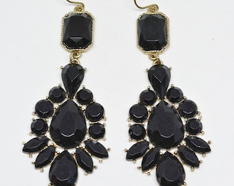 Lovely black tone earrings