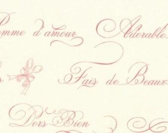 MODA - Ooh La La French Word  - 2831 12 - Bunny Hill Children - Natural