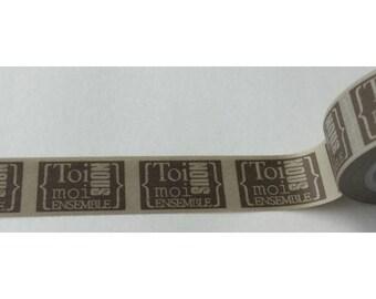 Washi tape (washi) - text label