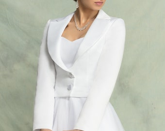 Bridal Jacket Wedding made from Satin (Heated)