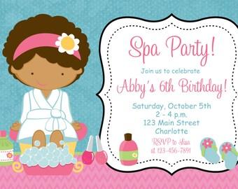 Spa birthday party invitation nail party manicure party spa spa birthday party invitation spa birthday spa party invitation stopboris Choice Image