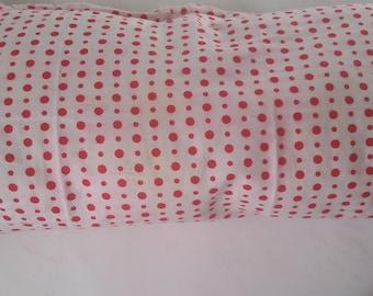 Pink Polka dot pillow/ throw pillow